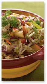 Warm Apple and Cabbage Slaw