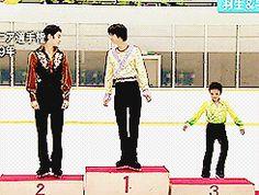 Yuzuru Hanyu and Shoma Uno — Shoma Uno is so young looking...! This is adorable