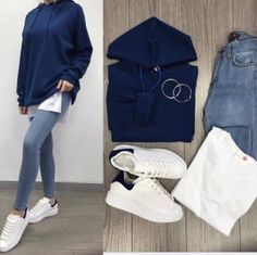 Mixing and matching combo outfits – Just Trendy Girls Modest Fashion Hijab, Modern Hijab Fashion, Winter Fashion Outfits, Korean Fashion, Cute Casual Outfits, Simple Outfits, Stylish Outfits, Korean Outfits, Mode Outfits