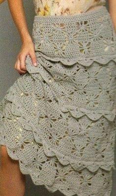 Irish crochet &: CROCHET SKIRT ...  ЮБКА КРЮЧКОМ
