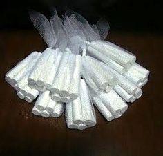 saquinhos de tule com giz