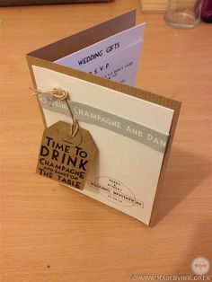 Time to drink champagne and dance on the table - themed wedding stationery design by www.madebyhol.co.uk