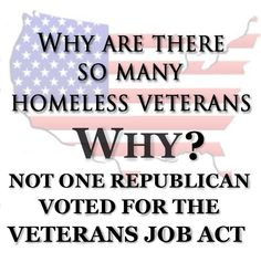Veterans job act.  VETS!  VOTE the GOP OUT in NOV!