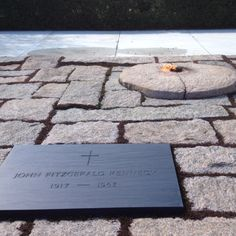 """President John f. Kennedy's grave is in Arlington Cemetery.  The """"eternal flame"""" at his gravesite burns 24 hours a day and is never allowed to be extinguished."""