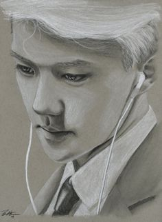 Thoughtful Sehun by FallThruStardust on deviantART
