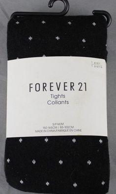 NEW Forever 21 Basic Tights Black & White S/P M/M   #FOREVER21 #Tights