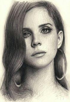 Lana Del Rey #LDR #art by Andrew Fry