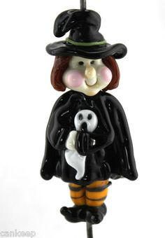 Halloween Witch, Handmade glass bead| by Lezlie B (cankeep)
