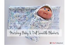 Tutorial: Hooded swaddle blankets for baby and doll
