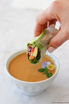 Thai Peanut Sauce This simple Thai peanut sauce is the best for dipping fresh spring rolls.This simple Thai peanut sauce is the best for dipping fresh spring rolls. Easy Thai Peanut Sauce, Vegan Peanut Sauce, Peanut Sauce Recipe, Peanut Dipping Sauces, Peanut Butter Sauce, Peanut Sauce Stir Fry, Peanut Satay Sauce, Peanut Sauce Chicken, Salads