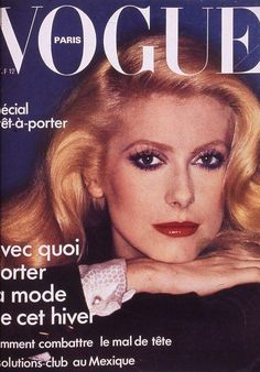 Vogue Paris cover with Catherine Deneuve - October 1974