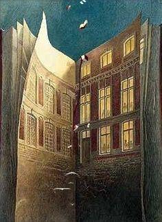 "Illustration from the ""Urbicande, les cités obscures"" series of graphic novels by Belgian artist François Schuiten and writer Benoît Peeters"