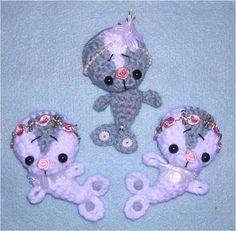 Digital PDF Crochet Pattern 3rd MCC Camille the Seal Milk Cap Cutie Amigurumi by Peggytoes  recycle mini miniature toy doll ornament clip-on