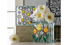 Gallery Glass® Pretty Glass Block Vases #glassblock #craft
