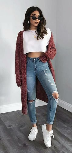 Apr 23 2020 - 10 Ways to Wear the Maxi Cardigan 10 Ways to Wear the M. - Apr 23 2020 – 10 Ways to Wear the Maxi Cardigan 10 Ways to Wear the Maxi Ca … Source by - Fashion Mode, Look Fashion, Teen Fashion, Autumn Fashion, Fashion Outfits, Nike Fashion, Womens Fashion, Fashion Styles, Winter Fashion For Teen Girls