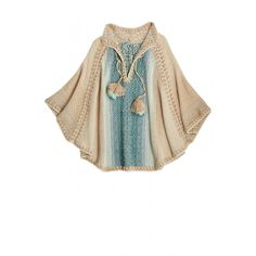 Rosia Hand Crochet Wool Poncho | Calypso St. Barth