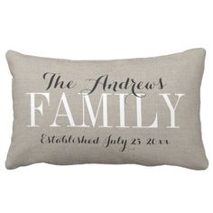 Rustic Beige Household Monogram and Wedding ceremony Date Outside Pillow.  See even more at the image