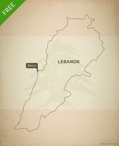 Free vector map of Lebanon outline
