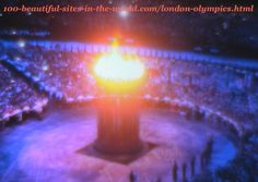 London Olympics 2012. The lights of the main big torch (caldron)