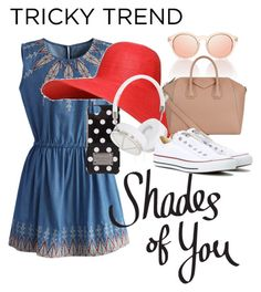 """""""Tricky Trend: Shades of you"""" by aflynn173 ❤ liked on Polyvore featuring Chicwish, MICHAEL Michael Kors, Givenchy, Frends, Converse, TrickyTrend and culottes"""