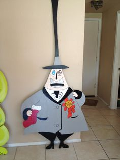 The Mayor from Nightmare before Christmas. I made from plywood