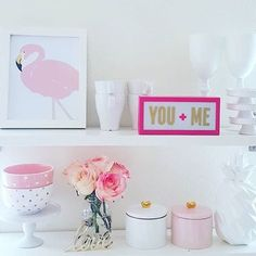 Our Pink Flamingo fits in perfectly in this lovely kitchen of @lux113    Wall Prints   Wall Prints Art   Wall Prints Quotes   Wall Prints Ideas   Wall Prints For Home   Wall Decor   Wall Decor Living Room   Wall Decorations   Wall Decor & Signs