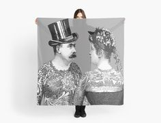 Tattooed Victorian Lovers | Scarf | Scarves | by Eclectic at HeART
