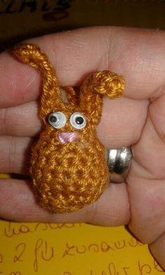 bunny I Crochet Animals, Crocheting, Bunny, Christmas Ornaments, Holiday Decor, Mini, Crocheted Animals, Crochet, Cute Bunny