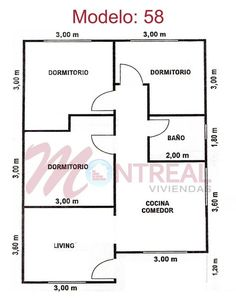ideas house projects autocad for 2019 Best House Plans, Small House Plans, House Floor Plans, Village House Design, Bungalow House Design, Three Bedroom House Plan, Bedroom Floor Plans, House Layout Plans, House Layouts