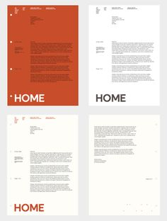 HOME identity – designed by o street // Creative Concern