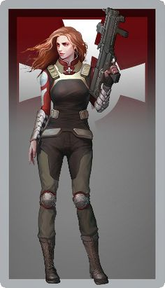 Female Cyborg, Fantasy Female Warrior, Character Ideas, Character Art, Character Design, Space Fantasy, Fantasy Art, D20 Modern, Female Drawing