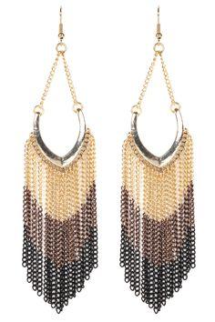 Oasis Jewellery. Multi Black Tassel Earrings