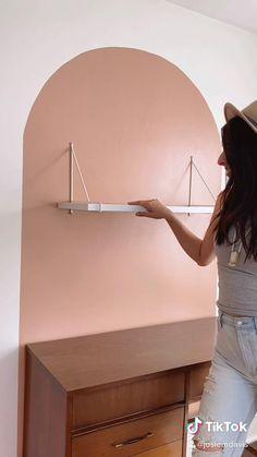 Room Design Bedroom, Home Room Design, Interior Design Living Room, Bedroom Decor, Diy Crafts For Home Decor, Diy Wall Decor, Study Room Decor, Painters Tape, Home Office Decor