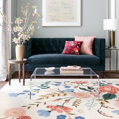 They're here! Introducing our debut collection of rugs and pillows – available in a variety of sizes, styles, and price points. Each piece was designed to bring a pop of personality to any space and crafted by our friends @loloirugs. Shop now via the link in our bio 🌸#RiflePaperCoHome #RiflePaperCoxLoloi