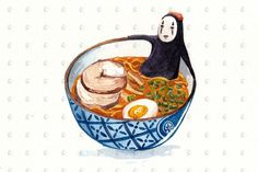 PenelopeLovePrints Set of 4 Studio Ghibli Watercolor Kitchen Art 5x7 prints prints - 4