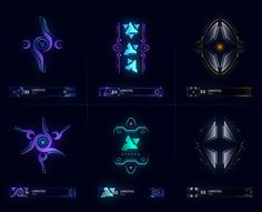 Several sets of player emblems I created for Halo 5 Guardians. A player is able to unlock these emblems via the Requisition system as they level up, purchase req packs or complete certain commendations.