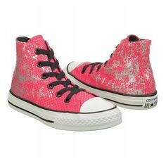 Girls' | Converse Chuck Taylor High Top Sneaker Pre/Grade School - Starflower/Silver - FREE SHIPPING at Shoes.com