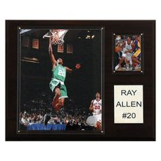 NBA 12 x 15 in. Ray Allen Boston Celtics Player Plaque - 1215RALLEN