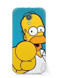 """Capa Moto G2 Homer Simpson """"Escolho Você"""""""