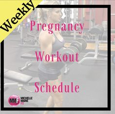 Weekly Pregnancy Workout Schedule Weekly pregnancy workout schedule to keep you on track control weight gain and have a healthy and fit pregnancy. Great pregnancy workout routine.