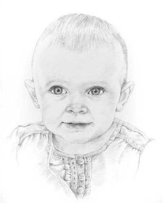 Pencil Portrait Mastery - Baby pencil portrait drawing Discover The Secrets Of Drawing Realistic Pencil Portraits. pencil-portrait-m. - Discover The Secrets Of Drawing Realistic Pencil Portraits Illustration Art Drawing, Art Drawings Sketches, Cute Drawings, Pencil Drawings, Realistic Drawings, Op Art Lessons, Pencil Portrait Drawing, Stippling Art, Baby Drawing