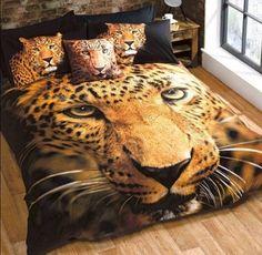 ConCo Duvet Set World Menagerie Size: Single - 1 Standard Pillowcase Double Duvet Covers, Single Duvet Cover, Bed Covers, Leopard Bedding, Purple Bedding, Leopard Animal, Duvet Sets, Duvet Cover Sets, Quilts