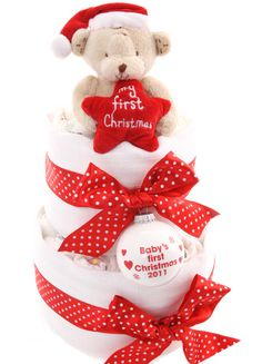 My First Christmas Nappy Cake