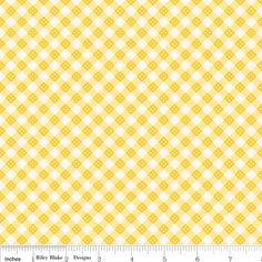 "Riley Blake Designs Hello Sunshine Plaid Yellow By Lori Whitlock -100% Cotton, 43/44"""