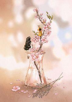 따스한 봄이 벌써 온 것이 시샘이 났는지 날이 저문 오후의 찬 바람은 유독 거세게 불었습니다. 바람이 지나간 자리, 봄기운이 탐스럽게 어린 꽃나무에  가지 하나가 꺾여 있는 것을 그냥 두기 안쓰러워  두 손으로 보듬어 집 안으로 데려왔습니다. 작은 유리병에 물을 채워 봄꽃 가지로 장식하니 집안 가득 분홍빛 싱그러운 봄기운이 채워집니다.  As if to get jealous of the approaching of warm spring, the wind in the evening was colder than ever. After the wind has passed by, a twig broke from the young flower tree  and it looked so pity that I couldn't just ignore it. So I brought it to my home. I put the flower twig in a small glass bottle an...