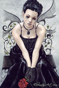 gothic fairies art | ElvenstarArt -- Fantasy, Fairy and Gothic Art -- Gothic Lament