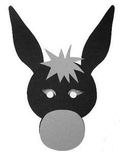 Cómo hacer una máscara de burro