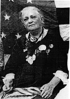"Cornelia Hancock, Civil War Nurse, wearing medals soldiers gave her for ""ministrations of mercy."" http://www.amazon.com/Soldiers-Friend-Cornelia-Hancock-ebook/dp/B005DT9SQ0/ref=la_B003P9L25K_1_7?ie=UTF8=1365602025=1-7"