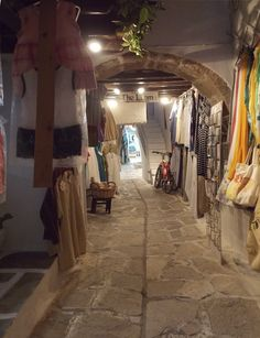 Old market section of Naxos Town, Naxos Island Greece. photo by Ηλιασ