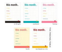 """""""This Week"""" AND """"This Month"""" journalling cards 